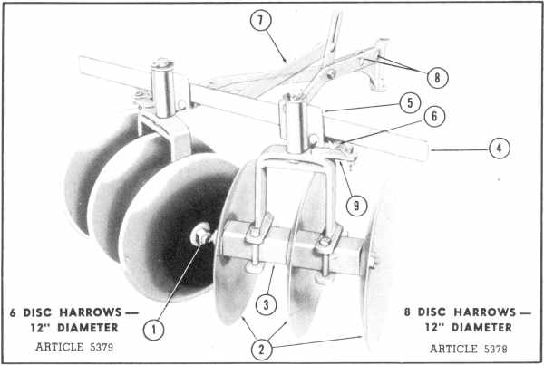 Disc Plough Drawing 8 And 6 Disc Harrows 12